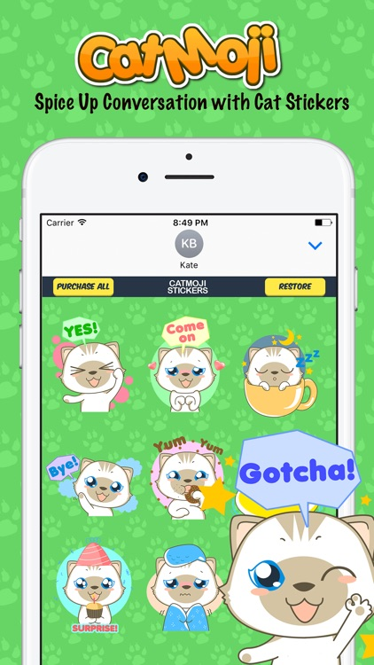 CatMoji Cutest Cat Stickers for iMessage