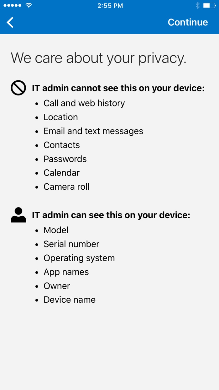 Microsoft Intune Company Portal Screenshot