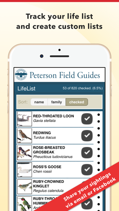 Peterson Bird Field Guide Screenshot