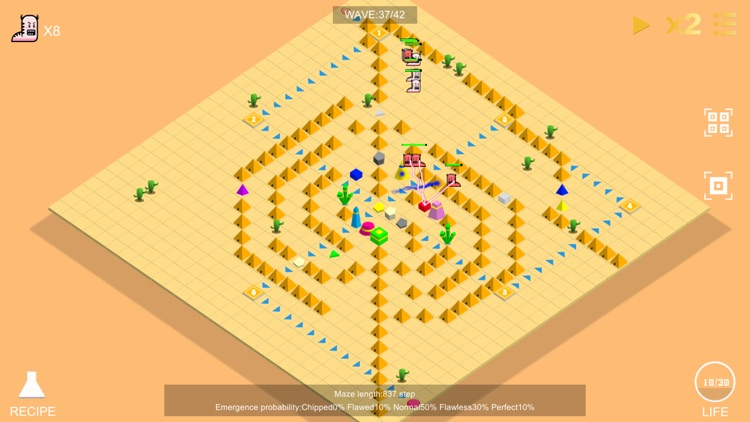 Gem Defense - Labyrinth tower defense