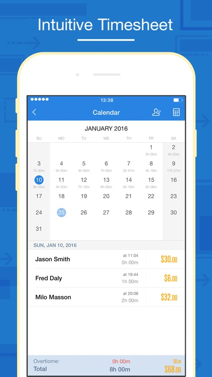 Hours Keeper Pro - Timesheet, Tracking & Billing screenshot-1