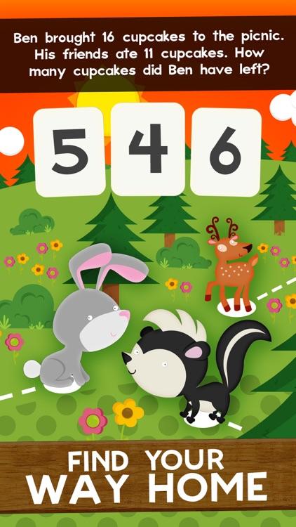 Animal Second Grade Math Games screenshot-3