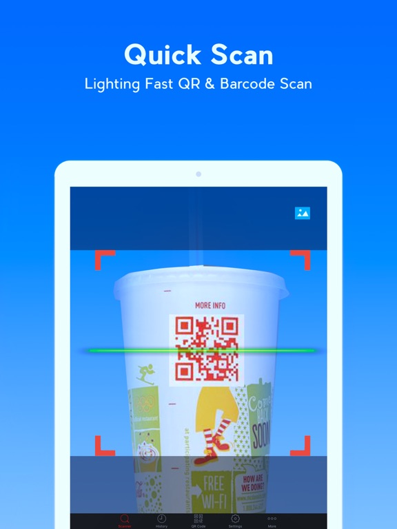 Screenshot #1 for QR Code Reader - QR Scanner & QR Code Generator