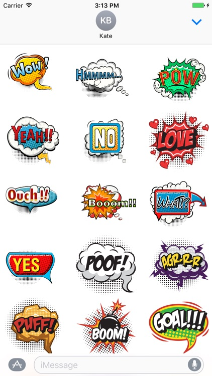 Comic Pop Art Stickers screenshot-1