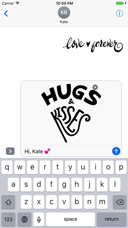 Love Typography Stickers for iMessage screenshot-3