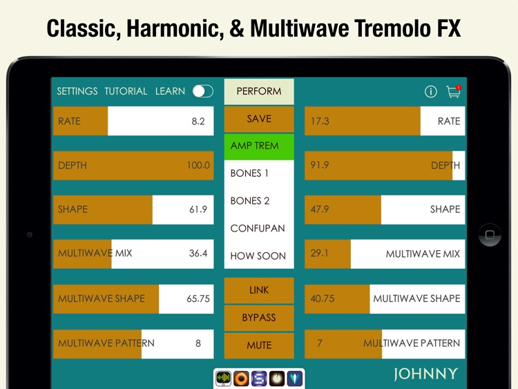 Johnny - Multiwave Tremolo Effects Processor screenshot-1
