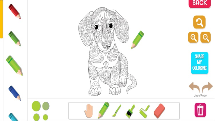 Animal Color Therapy Free Coloring Book for Adults screenshot-3