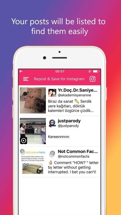 Repost for Instagram App- Video Photo Url on iPad