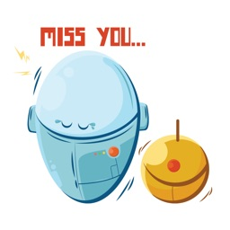 Robots in Love - Sticker Pack
