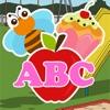 ABC 练习英语字母词汇和幼儿园的语音