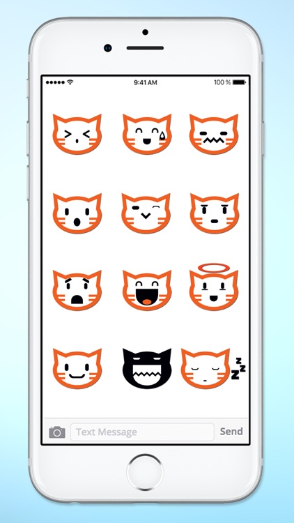 Cat Faces Emoticons Sticker Pack screenshot-3