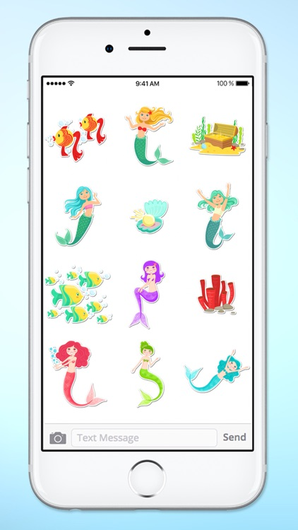 Magical Mermaids & Under Sea Friends Sticker Pack screenshot-4