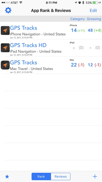 App Rank & Reviews