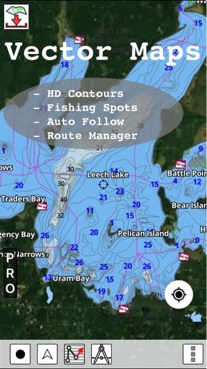 Minnesota Fishing Lake Maps & Navigation Charts en App Store