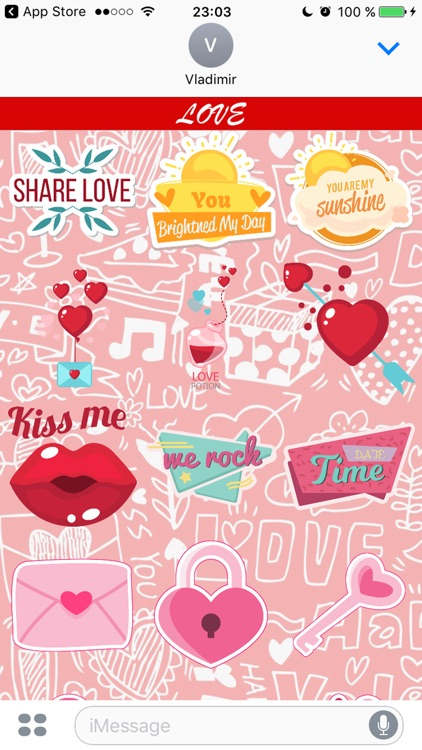 Love - Stickers for iMessage screenshot-4