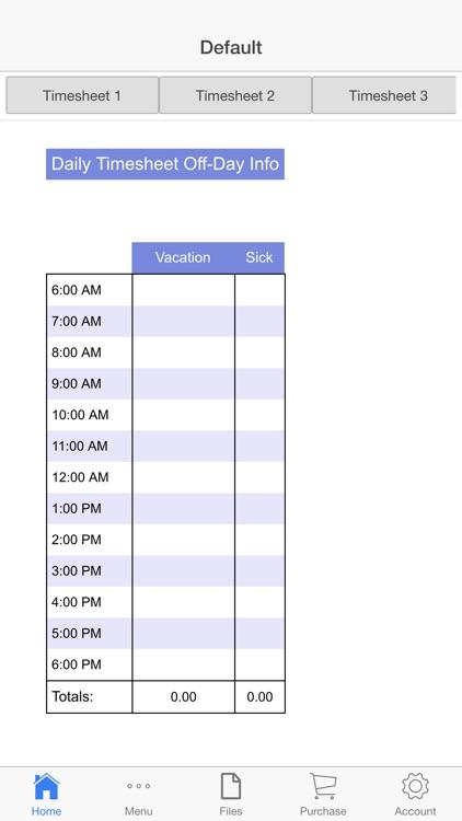Business Schedule