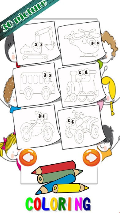 Learning Vehicles Coloring Markers Easy For Kids screenshot three