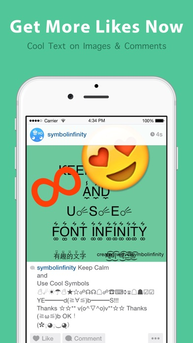 Symbol Infinity Pro Symbolscool Fonts Kaomoji By Cool Gamapp