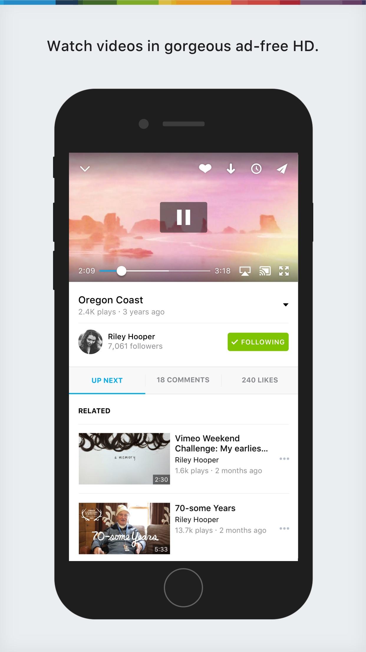 Vimeo Screenshot