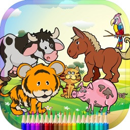 Animal Coloring Book For Kids Education Game