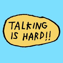 Ícone do app talking is hard