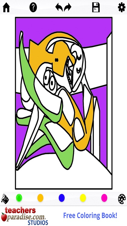 Picasso Coloring: Coloring Book for Adults screenshot-4