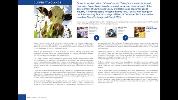 Clover Industries Ltd by Digital Publications SA