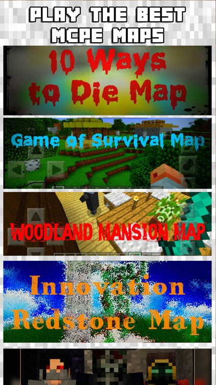 MCPE MAPS Free for Minecraft Map Pocket Edition PE