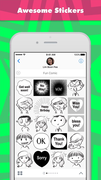Fun Comic stickers by wenpei