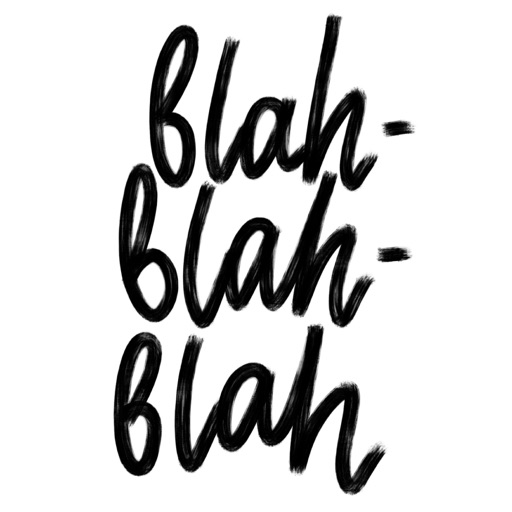 Blah blah blah: handwritten stickers for iMessage