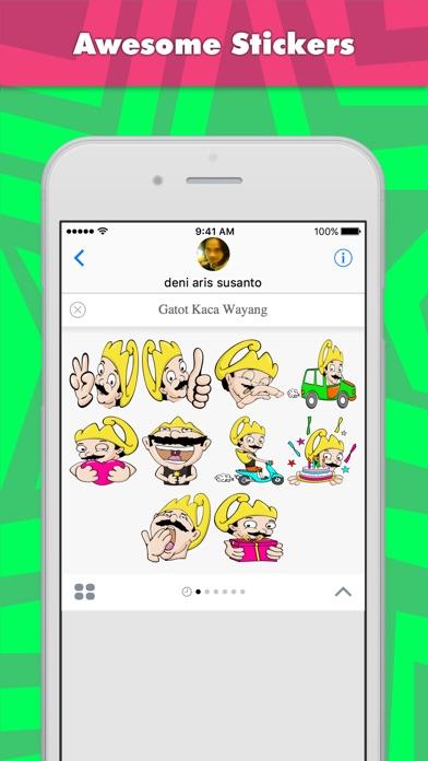 Gatot Kaca Wayang stickers for iMessage-1
