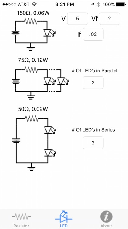 Resistor Color Code w/LED Calculator
