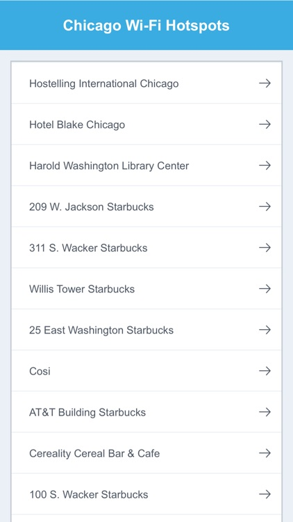 Chicago Wifi Spots screenshot-1