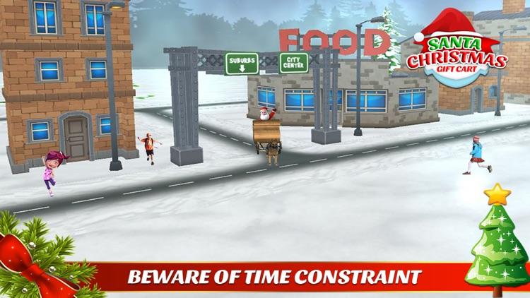 santa christmas gift cart : xmas gifts free game screenshot-3