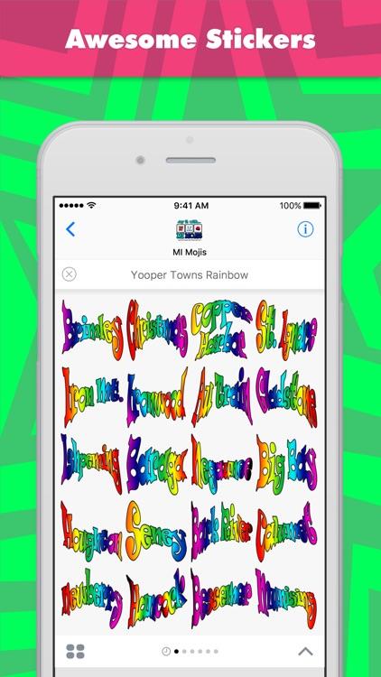 Yooper Towns Rainbow stickers by MI Mojis