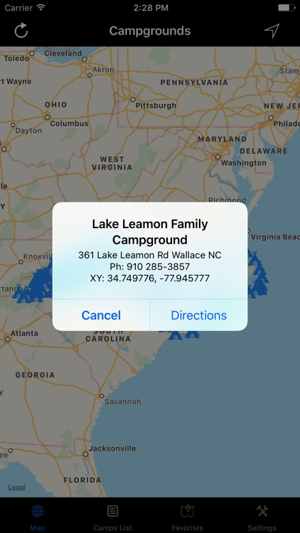 North Carolina – Campgrounds & RV Parks screenshot-1