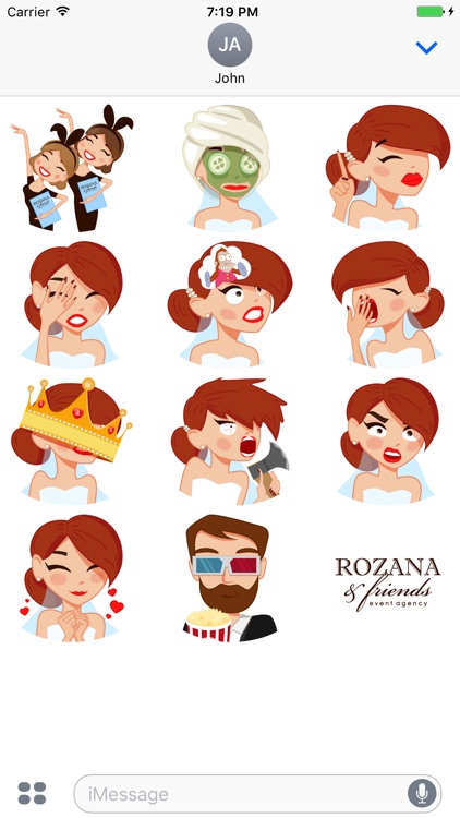 Bride Stickers by ROZANA & friends