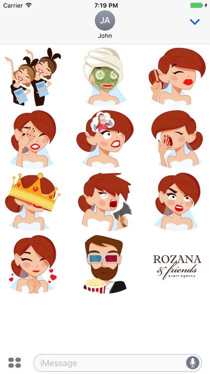 Bride Stickers by ROZANA & friends