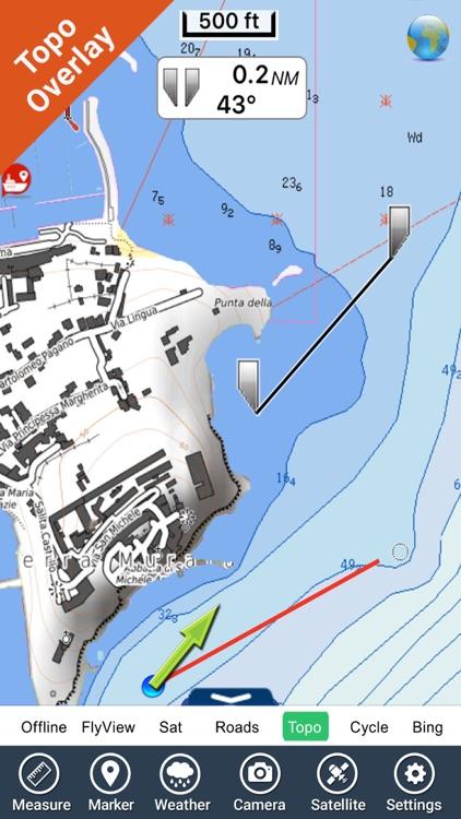 Marine : Lazio & Campania - GPS charts Navigator