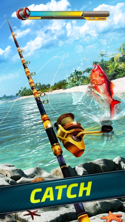 Extreme sport fishing 3d game by ten square games for Fishing tournament app