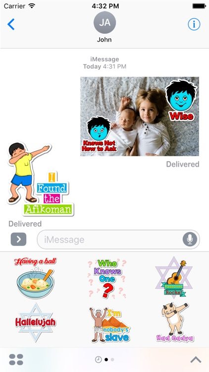 Passover Haggadah- Jewish Holiday Sticker Pack screenshot-3