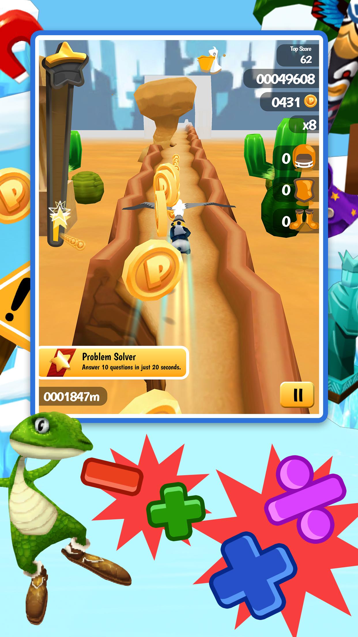 Math Run: Panda Chase Screenshot