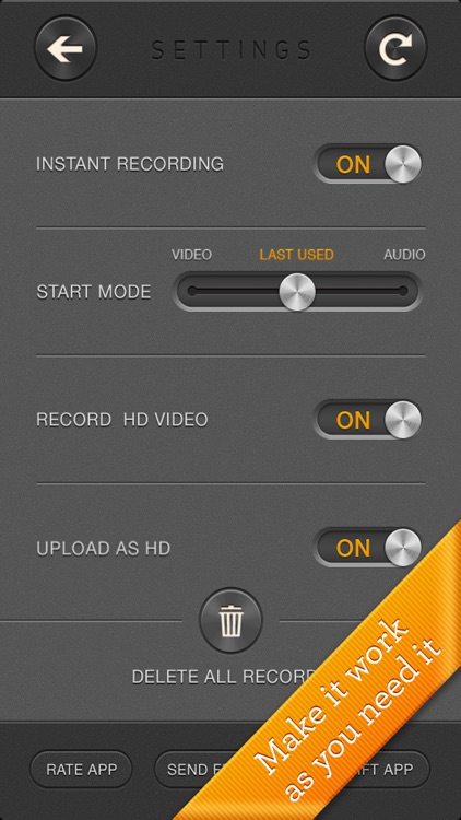 Manifesto - fast instant video & voice recorder screenshot-4