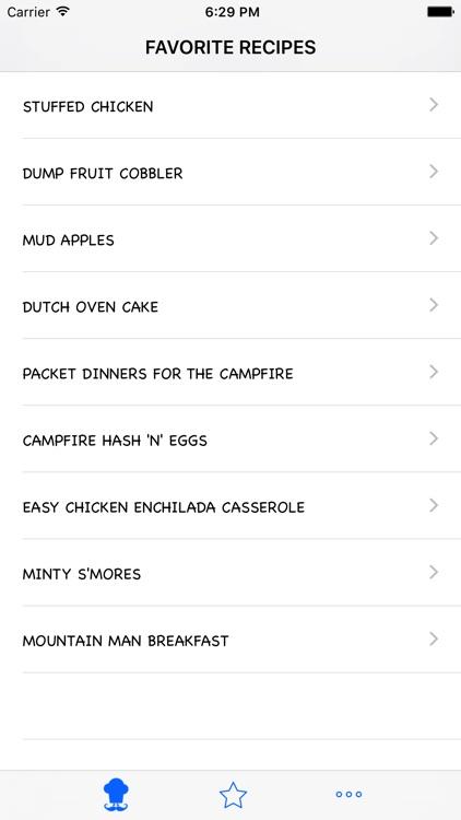 The Camping Recipes screenshot-4