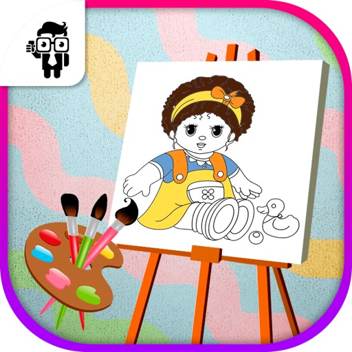 Doll Kids Coloring Book