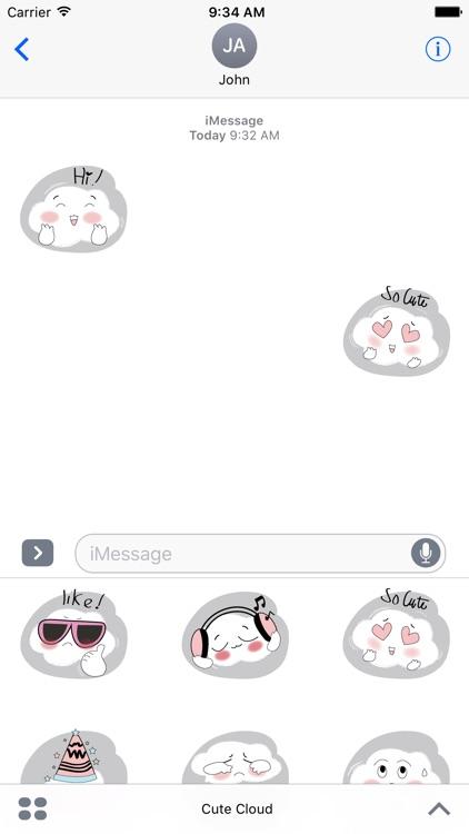 Cute Cloud Stickers