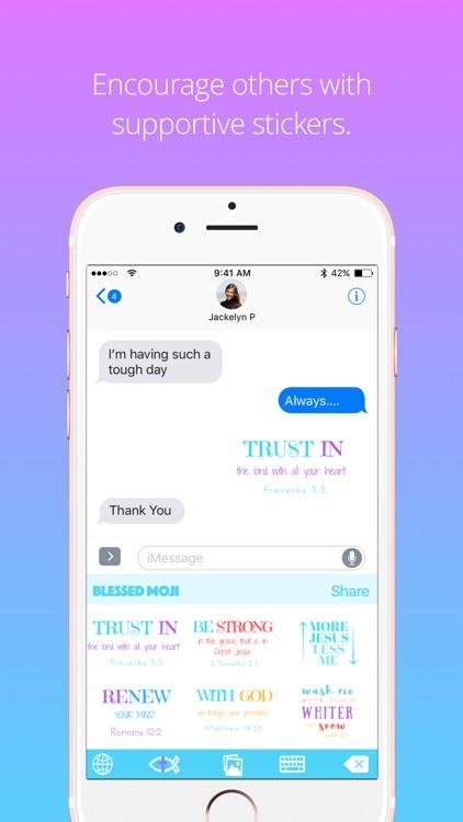 Blessed Moji: Christian & Devotional Emoji App screenshot-4