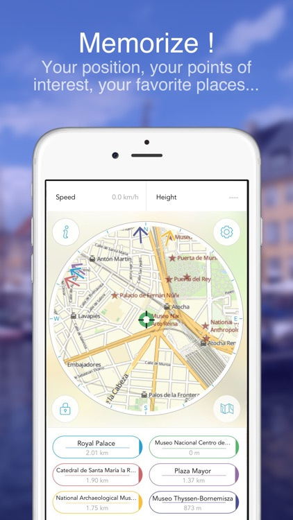 Madrid on foot : Offline map