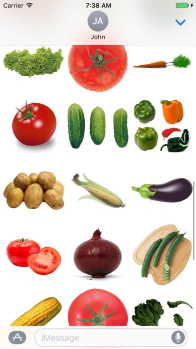 Vegetables Sticker Box app image