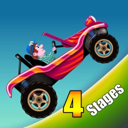 Hill Climb Racing : 4 Stages - Super Hero Game